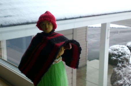 Hula Boy in Winter