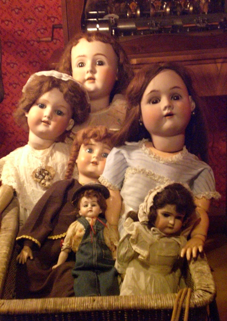 Creepy Dolls in a Carriage