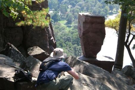 The Husband stalking Balanced Rock